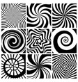 hypnotic background circular swirl wallpaper vector image vector image