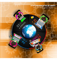 Infographic teamwork and brainstorming with Flat vector image vector image