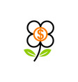 investment dollar flower vector image