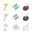 isolated object of pool and swimming symbol set vector image vector image