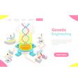 isometric flat concept genetic vector image