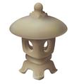 Japanese garden lantern garden lamp vector image
