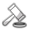 law gavel icon vector image vector image