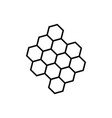 line honeycomb icon vector image vector image