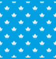 maple leaf pattern seamless blue vector image vector image