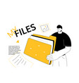 my files - modern colorful flat design style web vector image