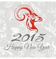New year card with goat vector image