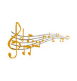 notes music melody colorful musician vector image