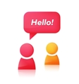 People icons and speech bubble with text Hello vector image