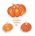 pumpkin stickers set vector image