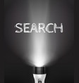 realistic flashlight search concept vector image