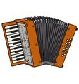 Red accordion vector image