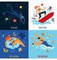 sea activities concept vector image vector image