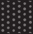 Seamless sunburst shapes freehand pattern vector image