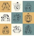 Set of nine on Martial Arts topic vector image vector image