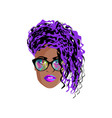 stylish fashionable woman vector image vector image