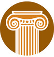 stylized image a greek column vector image vector image