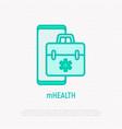 telemedicine thin line icon vector image