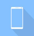 Touchscreen mobile phone flat design vector image vector image