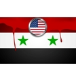 USA and Syria political concept background vector image