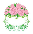 Vintage floral frame element for design retro