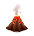 volcano isolated vector image vector image