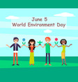 world environmental day june vector image vector image