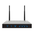 slim realistic wireless router vector image