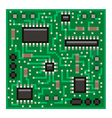 Pixel microchip isolated vector image