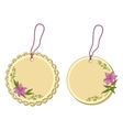 tags with floral pattern vector image