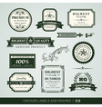 Vintage Premium Quality Labels vector image