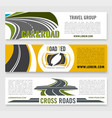 travel road group company banners vector image