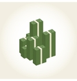 Big stacked pile of cash Business and banking vector image