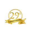 29th anniversary celebration logo vector image vector image