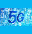 5g fifth generation of mobile network cyber vector image vector image