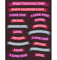 A set of valentines design vector image
