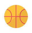 basketball flat icon vector image vector image