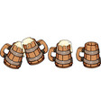 beer wooden mug vector image