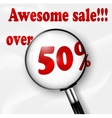 Big Sale tags with Sale 50 percent vector image vector image