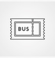 bus ticket icon sign symbol vector image