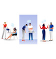 business characters design set vector image vector image