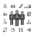 business team management icons vector image vector image