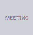 businesspeople crowd gathering in shape meeting vector image vector image