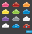 button with cloud color icon vector image vector image