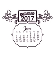 Calendar of 2017 year design vector image vector image