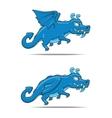 Cartoon dragon character vector image vector image