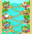 cartoon game treasure template vector image vector image