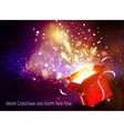 Christmas background with open red box vector image vector image