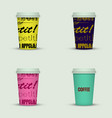 coffee cup to go coffee cups set collection vector image vector image