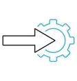 Cog Integration Outline Icon vector image